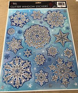 Glitter Snowflake Christmas Stickers