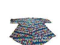 Lularoe Women's Size M Green Lindsay Feather Print 3/4 Sleeve Kimono Top