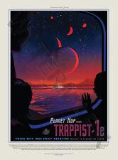LA NASA AFFICHE ESPACE VOYAGE ANNONCE 1E TRAPPISTE PLANÈTE HOP ART IMPRESSION HP3841