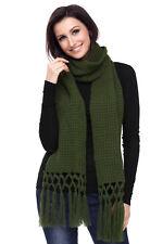 Cozy chunky knit tassel scarf ladies scarfs scarves warm autumn winter