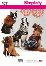 SIMPLICITY SEWING PATTERN 1031 DOG PET STEAMPUNK COSTUMES SIZES SMALL THRU LARGE