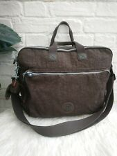 Kipling Arne Brown Laptop Travel Bag Protection Work Padded With Trolley Sleeve