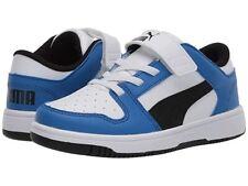 Puma Rebound Layup Toddler Boys Shoes Kids Shoe Blue White Low Sneaker Size 4