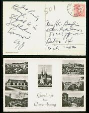 Mayfairstamps Sweden 1953 To Detroit MI Luxembourg Multiview Postcard wwo45851