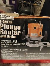 Chicago 1 3/4 HP PLUNGE ROUTER with BRAKE    New!
