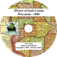 1880 History & Genealogy of SAUK County Wisconsin WI