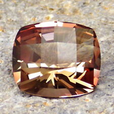 COPPER RED-PEACH OREGON SUNSTONE 5.87Ct FLAWLESS-VERY BRILLIANT GEM FOR JEWELRY!