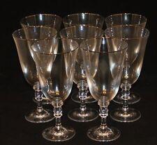 8 Ralph Lauren Crystal Landon Platinum Rim 8-1/4 Inch Iced Tea Glasses