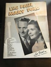 LES PAUL & MARY FORD  Sheet Music SONG FOLIO Piano and Guitar Tab