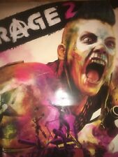 Rage 2 large promo advertising poster , double sided, new rare