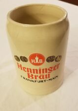 Vintage Henninger Brau Frankfurt Main Beer Stein Mug West Germany