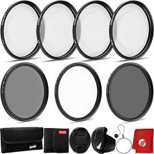 Opteka 58mm Close-Up Set (+1, +2, +4), 10x Macro Lens & Filter Kit UV, CPL, ND4