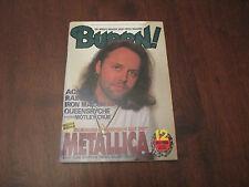 BURRN! HEAVY METAL MAGAZINE - 12 DECEMBER 1995 - METALLICA AC/DC IRON MADIEN