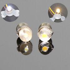 10PCS  Warm White / White LED Screw Bulb E5 E5.5 12V-14V Spur H0/TT/N Scale NEW