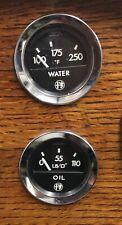 Veglia Borletti 1960s Alfa Romeo oil and tempreture gauge