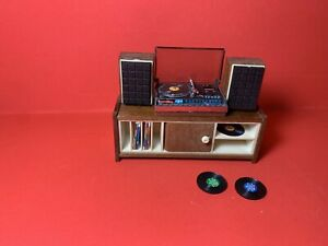 Vintage Lundby Stereo, speakers and unit