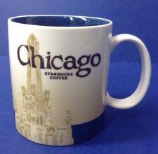 fb27c3e898b 2009 Starbucks Coffee Collector Series CHICAGO City Mug Blue 16oz Global  Icon