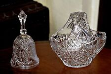 Vintage Cut Crystal Vase with Crystal Bell