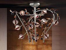 Plafoniera classica di design platino con vetri coll. BELL ametista 1650/L12L