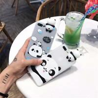 Cool 3D Cartoon Panda TPU Silicone Phone Case Cover For iPhone 6s 7 8 Plus X