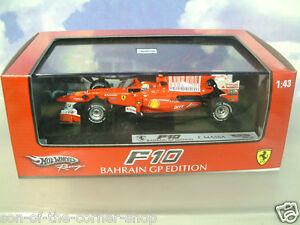 HOT WHEELS RACING 1/43 FERRARI F10 #7 FELIPE MASSA 2ND BAHRAIN GP 2010 T6290