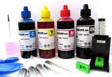 inchiostro per ricarica cartucce stampanti hp 301 nere 301 colore + refill clip