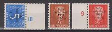 Indonesia Nieuw New Guinea 22-24 randvel plaatnummer MNH PF 1953 Waternoodzegels