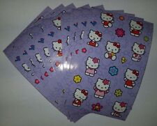 """Sandylion Vintage HELLO KITTY Stickers lot of 5 SHEETS size 4"""" X 6 New"""