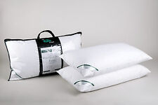 Pair of Luxury Super King Size Pillows 100 Premium Hungarian White Goose Down