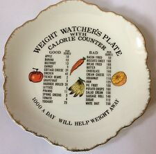 WEIGHT WATCHERS PLATE WITH CALORIE COUNTER – DECORATION/ WALL HANGING