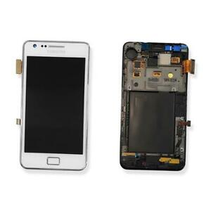 DISPLAY LCD TOUCH SCREEN FRAME ORIGINALE SAMSUNG GALAXY S2 PLUS GT-I9105 BIANCO