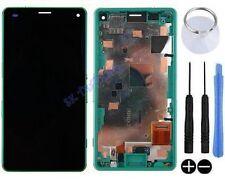 ECRAN LCD VITRE TACTILE SUR CHASSIS SONY XPERIA Z3 COMPACT MINI D5803 VERT NOIR