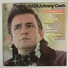 Johnny Cash  The World Of Johnny Cash 2-LP UK 1970 Label  naranja gatefold
