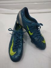 Mens Boys Nike Blue Silver Mercurial Football Boots Trainers Size 8.5 #4