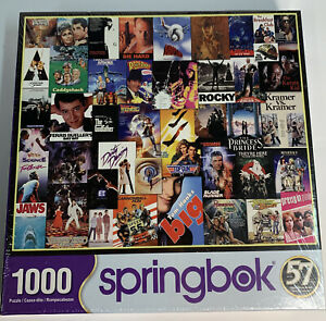 Springbok's 1000 Piece Jigsaw Puzzle Going to the Movies 70's & 80's New/Sealed!