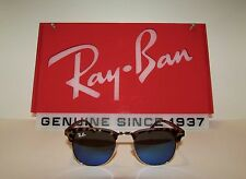 New Authentic RayBan Clubmaster RB3016 - Blue mirrored lenses/Leopard frame