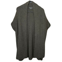 Vince Wool Yak Honeycomb Cable Knit Sweater Shawl Open Cardigan Women's Small