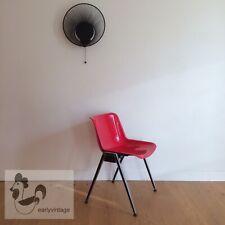 OSVALDO BORSANI TECNO MODUS chaise empilable design vintage space age 1970 rouge