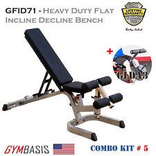 2017 NEW KIT BodySolid GFID71 Heavy Duty FID WEIGHT BENCH w/ Leg Developer GLDA3
