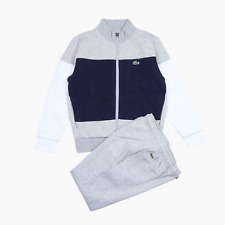 Lacoste Sport Kids Cotton Jogging Tracksuit Grey Age 12 Years BNWT Childs Boys