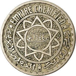 [#861718] Coin, Morocco, Mohammed V, 20 Francs, AH 1366/1946, Paris, EF