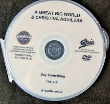 A Great Big World & Christina Aguilera  DVD single SAY SOMETHING music video