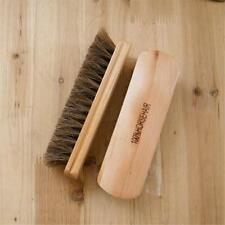 Wood Large Horse Hair Bristles Shoe Polish Buffing Brush Boot Care Clean Wax