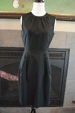 NWT J Crew Keyhole Dress in Super 120s Sz 0 XS Extra Small 77202 $198 Black