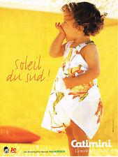 PUBLICITE ADVERTISING  1999   CATIMINI    mode des petits  SOLEIL DU SUD