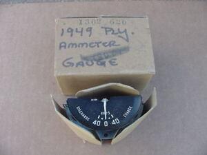 1949 Mopar NOS Ammeter 49 Plymouth Special Deluxe P18