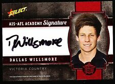 2013 Select Future Force Dallas Willsmore Signature  AIS AFL Academy 189 of 200