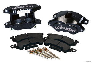 "WILWOOD D52 BRAKE CALIPER & PAD SET W/PINS,FRONT,1.04"",BLACK,BIG GM CALIPERS,PAD"