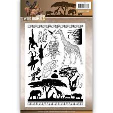Amy Design Wild Animals Clear Stamp Set 17pcs