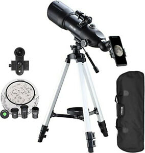 16-133X Telescope with High Tripod Storage Bag Phone Holder For Moon Watching